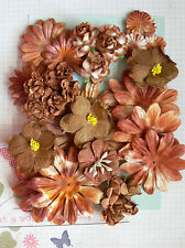 BATIK HENNA Mixed Styles Paper BROWN - 31 Flower Pk 22-95mm across Green Tara