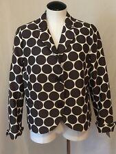 AKRIS PUNTO cream and brown polka dot blazer, size 12
