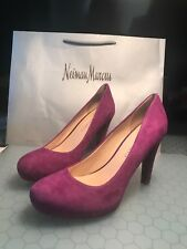 24979c270ae Franco Sarto Cicero Women s Raspberry Suede PUMPS HEELS Shoes Size ...