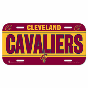 Cleveland Cavaliers License Logo Plate Car Sign 11 13/16in NBA Basketball