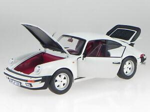 Porsche 911 Turbo 3.3 1977 blanc véhicule miniature 187547 Norev 1:18