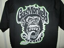 DALLAS GAS MONKEY ROCKER TATTOO Button Front SWAG FITTED UTILITY Shirt Mens S