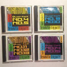 Shostakovitch The Manhattan String Quartet Lot of 4 CDs Vol 2 4 5 6