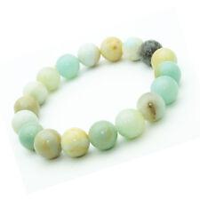 Bracelet Amazonite en pierre semi-précieuse perles 10 mm (ST10-AMA)