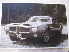 1972  PONTIAC  FIREBIRD  FORMULA 455   11 X 17  PHOTO  PICTURE