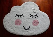 Sweet Dreams Smiling Cloud Rug - Cloud Mat - Nursery Rug Childrens Bedroom Rug