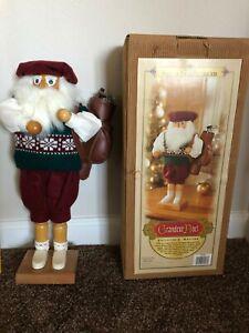Christmas Wooden Santa Golfer Nutcracker Grandeur Noel Limited Edition 2000