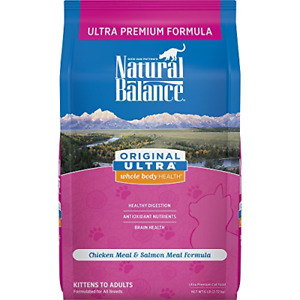 Natural Balance Original Ultra Whole Body Health Dry Cat Food, Chicken Meal & 6