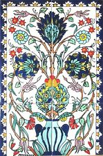 DECORATIVE CERAMIC TILES:MOSAIC PANEL HAND PAINTED KITCHEN POOL BATH 18in x 12in