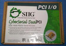 SIIG JJ-P02012 (HP 458383-001) CyberSerial Dual PCI 16550 RS232 Serial I/O Card