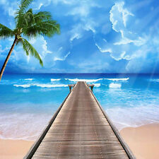 Tropical Beach 10'x10' CP Backdrop Computer printed Scenic Background ZJZ-693