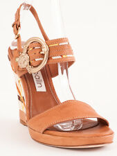 New Ballin Beige Leather Made in Italy Sandals Size 36 US 6