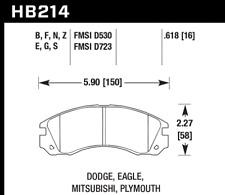Hawk Disc Front Brake Pad for 09-14 Mitsubishi Lancer Ralliart # HB214N.618