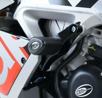 R&G White Crash Protectors - Aero Style for Aprilia RSV4 Factory 2014