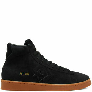 Converse Pro Leather Hi Schuhe Sneaker Unisex Schwarz Schnürschuhe Turnschuh