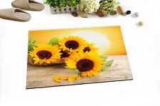Yellow Blooming Sunflowers Non-skid Kitchen Room Bath Mat Carpet Floor Area Rug