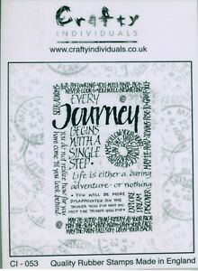 Crafty Individuals - Rubber Stamp - 'Every Journey Begins with....' - CI-053