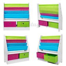 Children Kids Wooden Bookcase toy Rack Storage Book Shelf Tidy Bedroom/Playroom