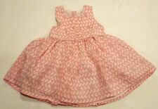 NEXT BABY TODDLER GIRL6m - 9m PINK WHITE RABBITS 100% COTTON SUMMER PARTY DRESS