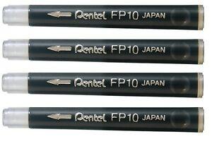 Pentel Brush Pen Refill Black FP10 - Pack 4