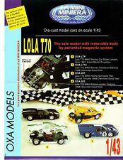 Set di 5 diverse 1/43 OXA minimodel Lola T70 Chevrolet/ASTON MARTIN