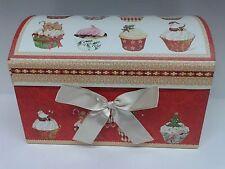 NATALE scatola bauletto CAMOMILLA MILANO cofanetto natalizio cupcakes 20x13x13