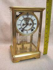 Antique Ansonia Open Escapment Crystal Regulator Clock - working