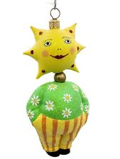 Patricia Breen Halloween Ornament Trick or Treaters Ray Striped Glitter Flowers