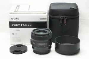 """""""MINT"""" SIGMA Art 30mm F1.4 DC HSM Lens for Canon EOS EF-S Mount w/ Box #210925h"""