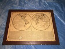 Vintage Geographical Map of the World No. 17 by R. Juigne No. XXXVIII