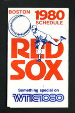 Boston Red Sox--1980 Pocket Schedule--WTIC
