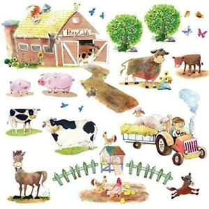 DECOWALL DWL-1407N Pony Club and Farm Animals Kids Wall Stickers Wall Decals
