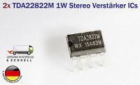 2 Stück 1Watt Audio Amplifier Stereo Verstärker ICs TDA2822 TDA2822M DIP-8 ST