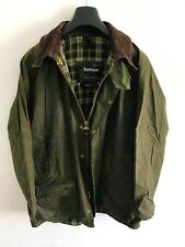 Mens Barbour Beaufort wax jacket Green coat 42in size Large / Extra Large L/XL 5