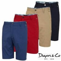 Dwyers & Co Designer Titanium Chino Flat Front Mens Funky Golf Shorts