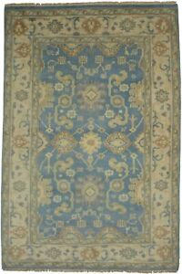 Floral Classic Oushak Chobi 5X8 Muted Colors Handmade Oriental Rug Foyer Carpet