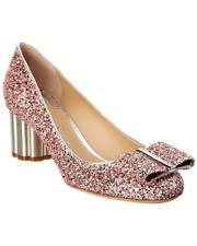 675 SALVATORE FERRAGAMO Capua Shoe,7,ITALY,LOGO,Rainbow,Multi,Silver,Napa,NIB