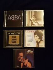 5 CDs Abba, Julio Iglesias, Nat King Cole, Connie Francis, Roger Whittaker