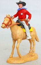 Timpo Plastic Red Sheriff On Standing Horse