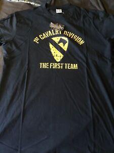 US Army T-shirt 1st Cavalry Division Army schwarz Grösse:XX-Large Neu