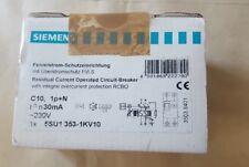 SIEMENS 5SU1353-1KV10 CIRCUIT BREAKER FI/LS AC, 30MA 1+N-P C10 4.5KA (U2.4B4)