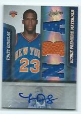 2009/10 Absolute=Toney Douglas Rookie autograph/triple relic-Knicks/Florida St.