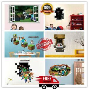 Minecraft mosaic 3D home décor, Cartoon wall sticker, Game Posters