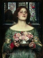 Soul of the Rose Waterhouse Art 8x10 Handmade Fabric Block Get 1 FREE Buy 2 Pillows /& Wall Art Great for Quilting