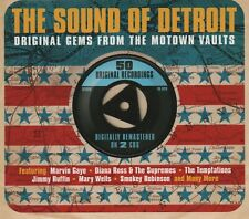 THE SOUND OF DETROIT - MARVELETTES SUPREMES MIRACLES CONTOURS - 2 CDS - NEW!!
