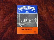 Carlisle United v Reading Div 3 23-3-82