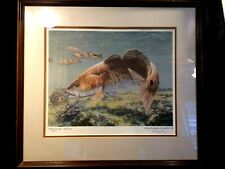 """Russ Smiley """"At The Oyster Bar"""" Game Fish Saltwater Sportsman Print LE/Signed 89"""