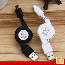 Cable USB Retráctil Micro USB Android / Carga y Sinc. - Blanco / Negro - 80 Cm