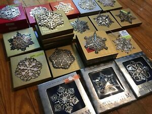 1991-2018 Vintage Silver MMA Museum Art Snowflake Star Christmas Ornament w/ Box