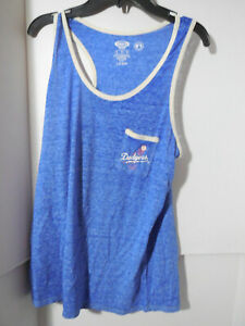 New Women's Los Angeles Dodgers MLB Sleep Set Tank Shorts Blue 2 PC Size Medium